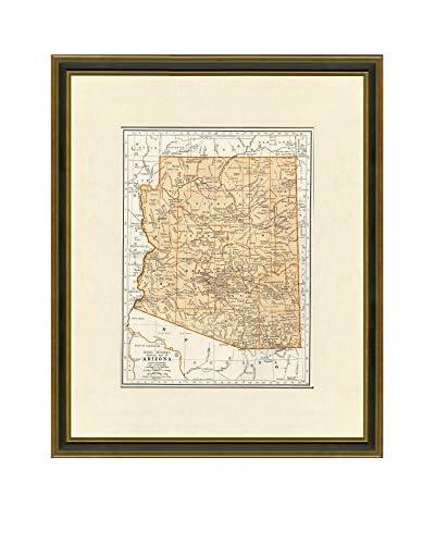 Vintage Print Gallery Antique Map Of Arizona 1937, Multi, 20.5 x 17.5