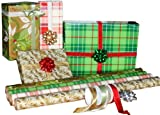 The Gift Wrap Company Traditional Elegance Wrap and Ribbon Assortment, 9-Count