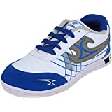 Bersache Men's White & Blue Sports Shoes (Running Shoes)