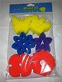 Pack of 6 Painting Sponges PAINTS Kids Children Painting Education Bath Toys