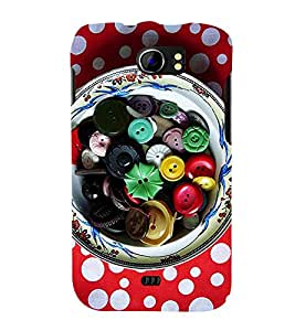ASSORTED BUTTONS IN A BOWL 3D Hard Polycarbonate Designer Back Case Cover for Micromax Canvas 2 A110::Micromax Canvas 2 Plus A110Q