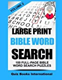 img - for Large Print Bible Word Search Volume 2: 100 Bible Related Word Search Puzzles by Mike Edwards (2015-03-01) book / textbook / text book