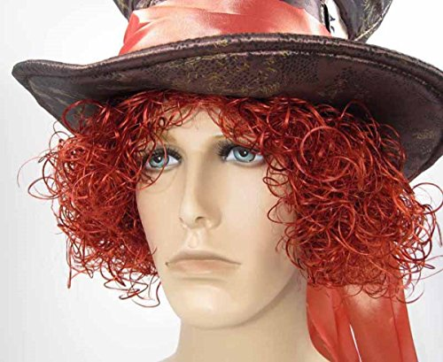 Adult Men's Mad Hatter Wig Henna Red