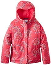 Columbia Girls 7-16 Triple Run II Jacket, Bright Rose Pinwheels, Large