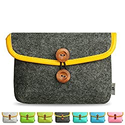 Litop 5.9 8.2 2.4 Inches Carrying Felt Sleeve Case Bag Travel Organizer for Computer Electronics Mp3 Mp4 Logitech Apple Magic Mouse Charger Adapter Cord Connector Cable Memory Card Cellphone