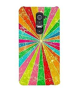 VIBGYOR PATTERN 3D Hard Polycarbonate Designer Back Case Cover for LG G2 :: LG G2 D800 D980