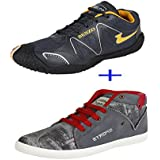 Bersache Men COMBO Pack Of 2 Pair Sports Shoe With Casual Shoe