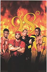 98 Degrees Firemen People Poster 22 X 34 Amazon Co Uk
