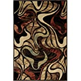 Home Dynamix Catalina 4473-450 Black 5-Feet 3-Inch by 7-Feet 2-Inch Contemporary Area Rug