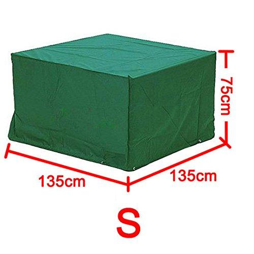 Yahee365 Wasserdichte Schutzhülle Hülle Abdeckung für Gartenmöbel Bank Tisch 135x135x75cm