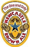 Newcastle Brown Ale Beer Bumper Sticker 10 x 12 cm