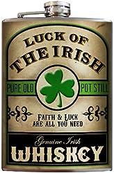 Irish Whiskey Stainless Steel Flask