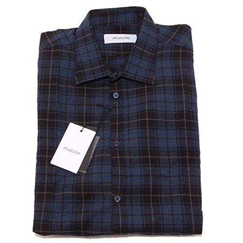 8161P camicia quadretti manica lunga AGLINI camicie uomo shirt men [41]