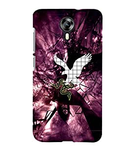 Fuson Magenta Eagle Snake Back Case Cover for MICROMAX CANVAS XPRESS 2 E313 - D3713