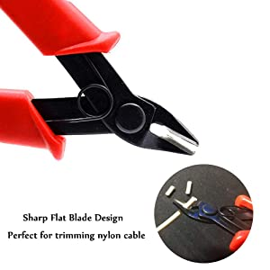 Wire Cutters Micro Shear Flush cutter, 5 Inch Flush Cut Pliers for Electrical Wire Cable Cutter, 3 Pack