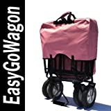 Pink Folding Utility Cart Wagon. Cart Transports Products and/or Children. Made by EasyGoWagon.