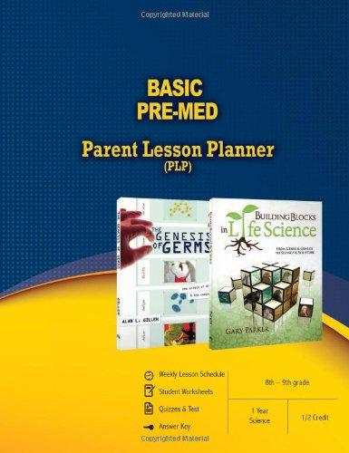 Basic Pre-Med Parent Lesson Planner