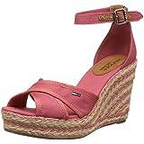 Hilfiger Denim LIVELY 20D Damen Knöchelriemchen Sandalen mit Keilabsatz