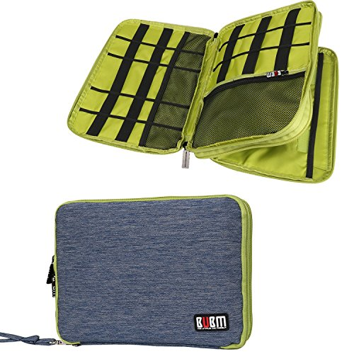 Travel-Organizer-BUBM-Universal-Double-Layer-Travel-Gear-Organizer-Electronics-Accessories-Bag-Battery-carrying-Case-Blue-and-Green