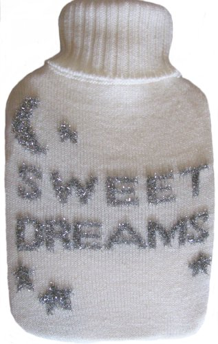 Warm Tradition Sweet Dreams Turtleneck Cable Knit Covered Hot Water Bottle - Bottle Made In Germany