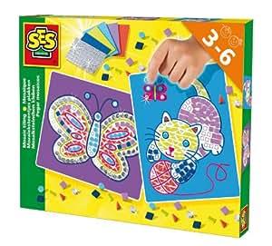 SES Deutschland 14813 - Mosaiksteinchen kleben Katze/Schmetterling