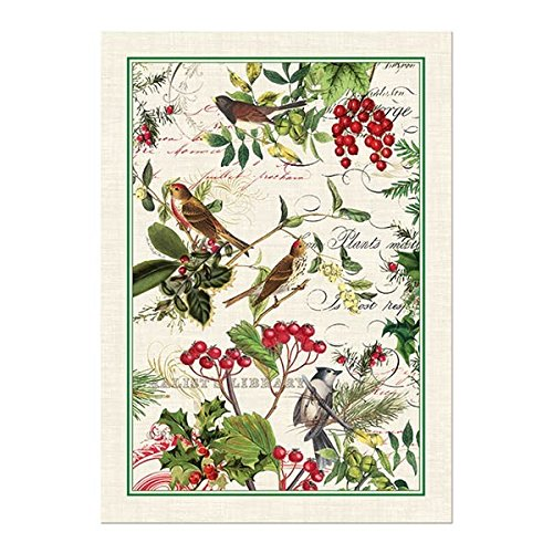 Michel Design Works Winters Tale Cotton Kitchen Towel Green