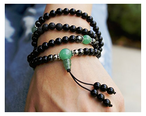 Buddhist Prayer Beads • Tibetan Mala Necklace • Healing Stones Bracelet • Chakra Jewelry • Onyx Hematite