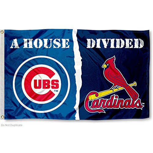 Chicago Cubs and St. Louis Cardinals House Divided Flag