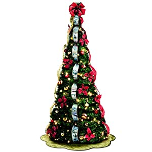 Thomas Kinkade Pre-Lit Pull-Up Christmas Tree: Wondrous Winter by The Bradford Exchange