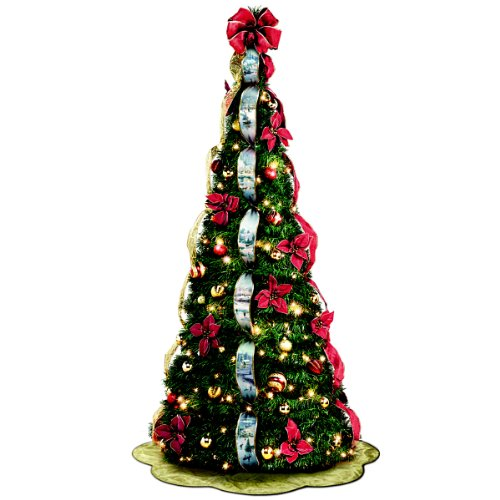 Thomas Kinkade Pull Up Christmas Tree