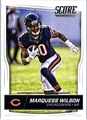 2016 Score #60 Marquess Wilson Chicago Bears Football Card