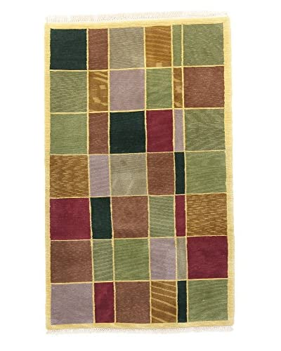 F.J. Kashanian One-of-a-Kind Hand-Knotted Mosa Rug, Multi, 3' 4 x 5' 6