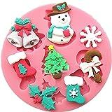 楽しい フォンダン モールド チョコレートモールド ハロウィン クリスマス に大活躍 話題独占 (雪だるま 靴下 その他クリスマス用 装飾,)