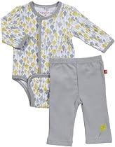 Magnificent Baby Unisex Newborn Burrito Bodysuit And Pant Set, Kites, 6 Months