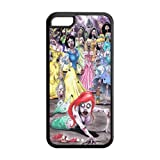 Mystic Zone Princess Ariel The Little Mermaid Cover Case for Apple iPhone 5C -(Black and White) -MZ5C00213