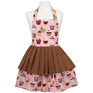 Amazon.com: ASD Living Jessica Children's Apron with Cupcakes ...
