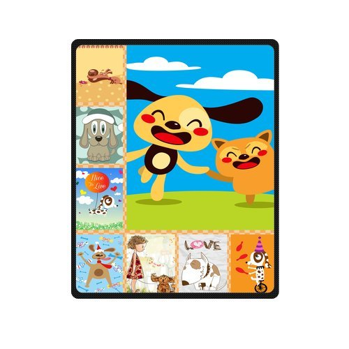 "Personalized Cute Dogs Jigsaw Blanket 40""X 50""(Small) front-1029914"