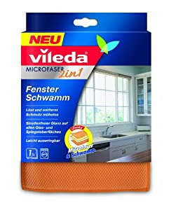 Vileda Fensterschwamm 2 in 1, 3er Pack (3 x 1 Tücher)
