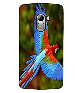 ColourCraft Beautiful Parrot Design Back Case Cover for LENOVO A7010