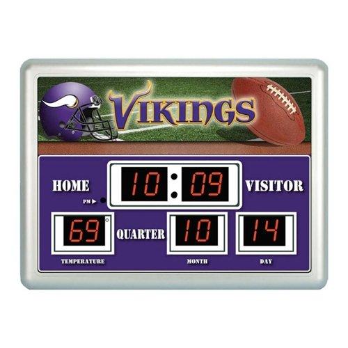 Minnesota Vikings Clock - 14''X19'' Scoreboard