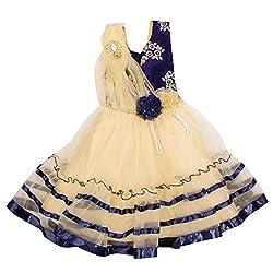 Yashasvi Girl's Moti work Cotton Dress