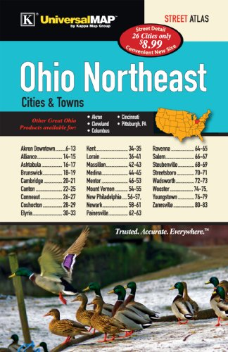 Ohio State Northeast Cities & Towns Street Atlas