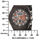 U.S. Polo Assn. Men's US8137 Brown Plated Analog-Digital Sporty Bracelet Watch