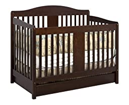 DaVinci Richmond 4 in 1 Convertible Crib with Toddler Rail, Espresso