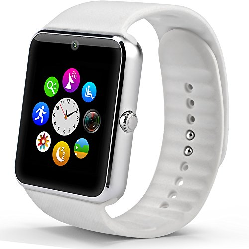 StarryBay Smart Watch Bluetooth Sweatproof Wrist Watch with Touch Screen for Notification Push /Handsfree Call for Andorid – white