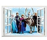 Frozen Queen Window View Wall Sticker Cartoon Mural Viny Art Decal Home Decor