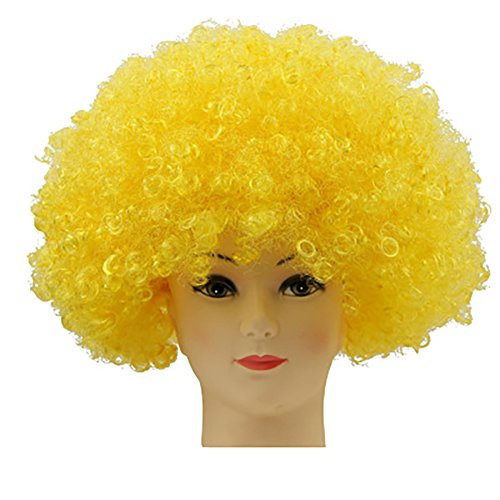 [Fund Economy Afro Wig for Party Halloween Show Club (Yellow)] (Hollywood Celebrities Halloween Costumes)