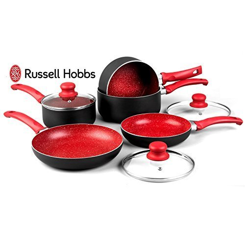 russell-hobbs-8-piece-induction-non-stick-stone-pan-set-saucepan-frying-pan-kitchen-cookware-red