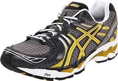 ASICS Men's GEL-Kayano 17 Running Shoe,Black/Gold/White,8 M US