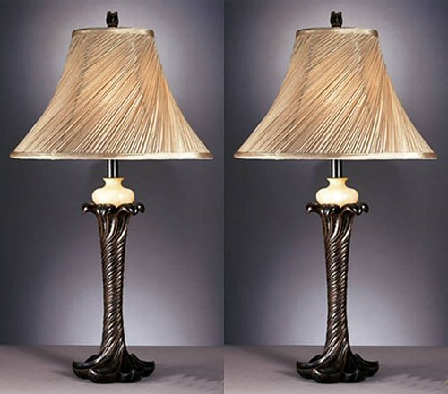 Ashley L512434 Erin Table Lamp in Traditional Style, Set of 2
